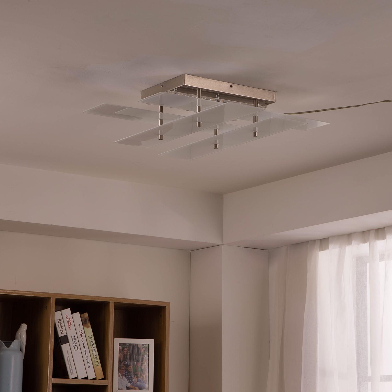 home24 LED-Deckenleuchte Bozz