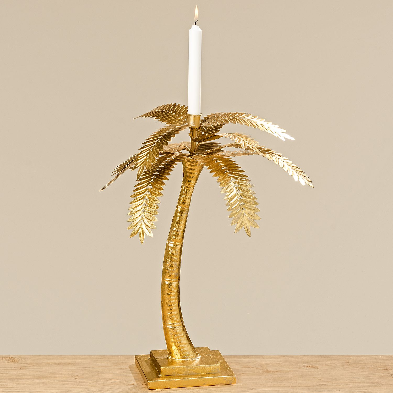 Kerzenstaender Palme Glossy, Boltze