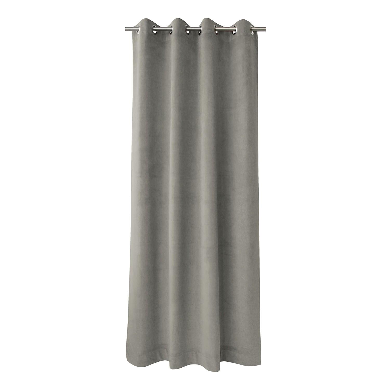 home24 Apelt Ösenschal Tassilo Grau 135x245 cm (BxH) 100% Polyester