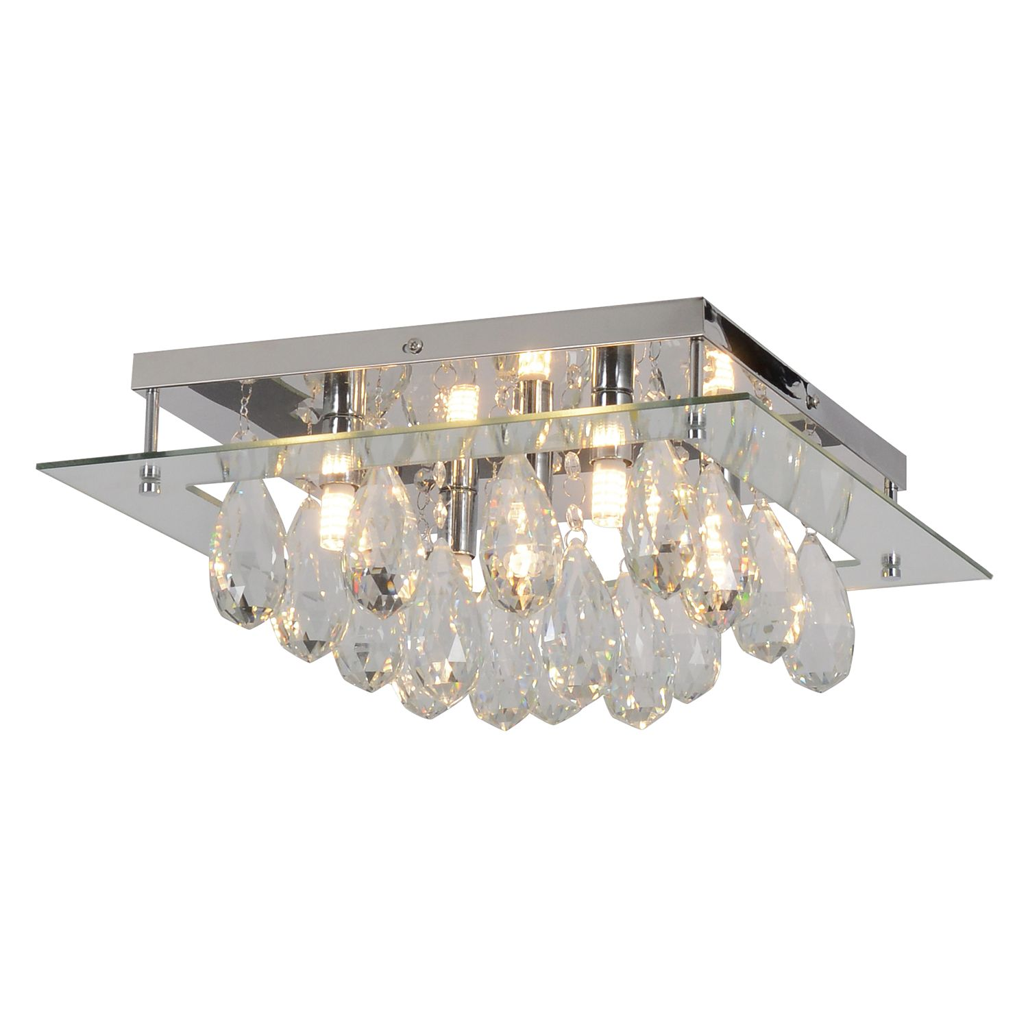 home24 LED-Deckenleuchte Diamonds
