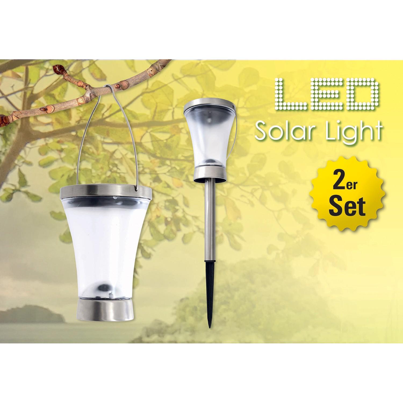 LED-Solarleuchte Madagaskar (2er Set), Näve