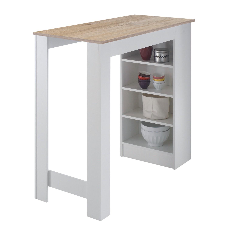 home24 Bartisch Aranos | Küche und Esszimmer > Bar-Möbel > Bar-Stehtische | Weiss | loftscape