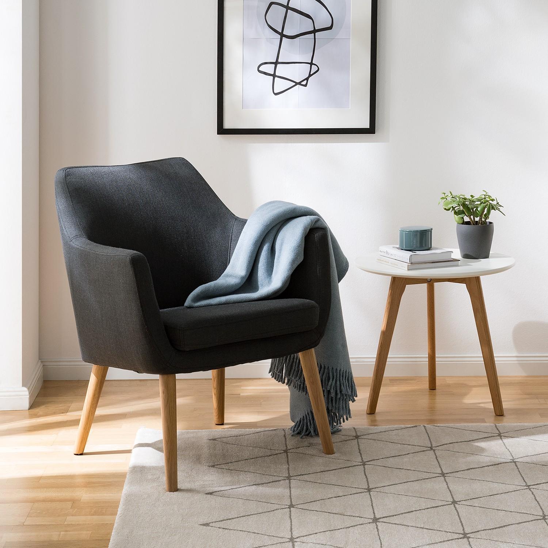 home24 Mørteens Sessel Nicholas Anthrazit Webstoff 66x80x68 cm (BxHxT)