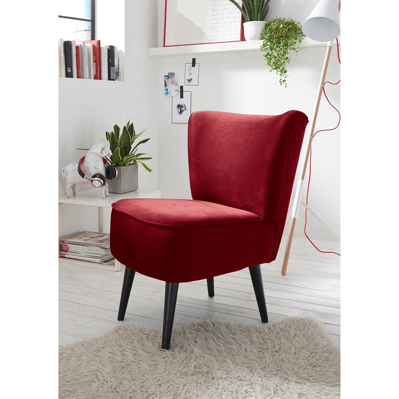 home24 Mørteens Sessel Santa Rita Dunkelrot Samt 65x82x73 cm (BxHxT)