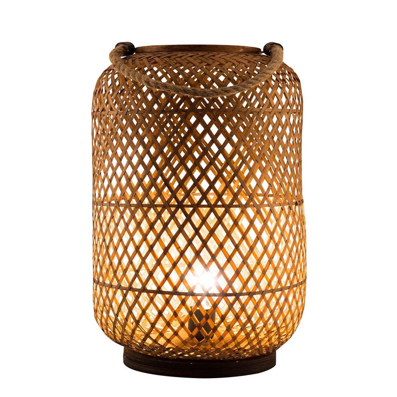 home24 Windlicht Windy   Dekoration > Kerzen und Kerzenständer > Windlichter   Braun   Naturfaser   Nino Leuchten