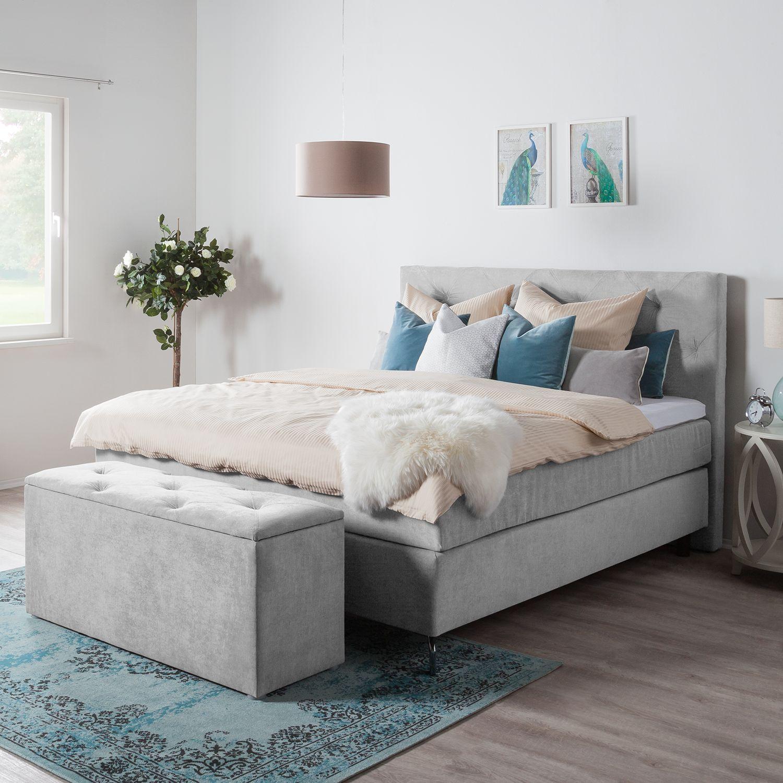 Schlafzimmermöbel - Betttruhe Dogali - Maison Belfort - Grau