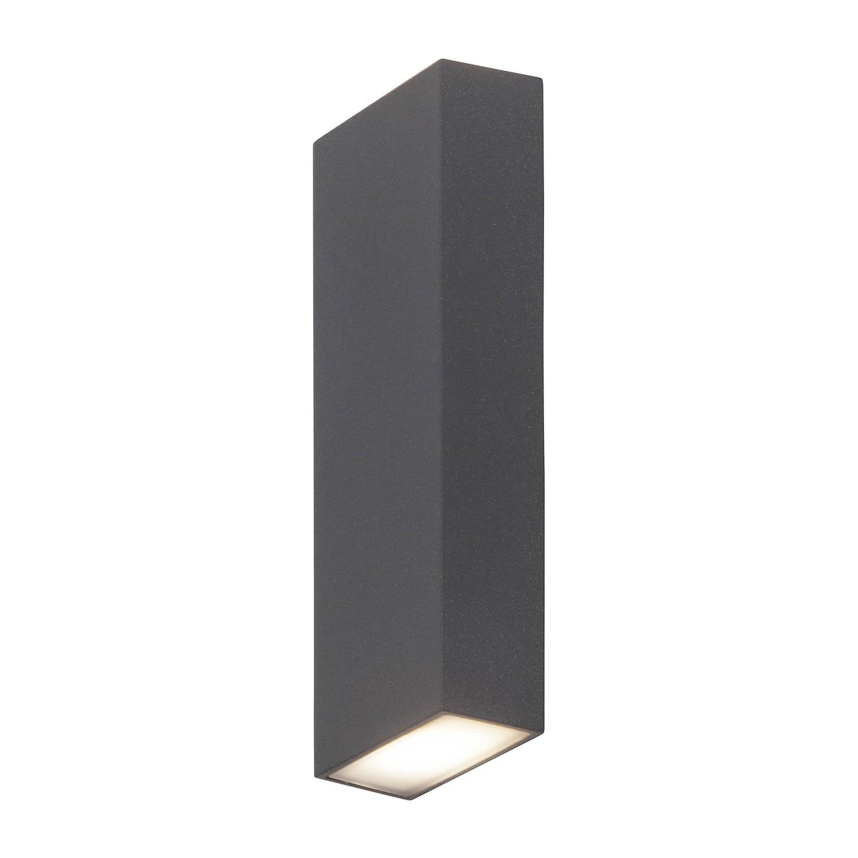 home24 LED-Aussen-Wandleuchte Tivana | Lampen > Aussenlampen > Wandleuchten | Schwarz | AEG