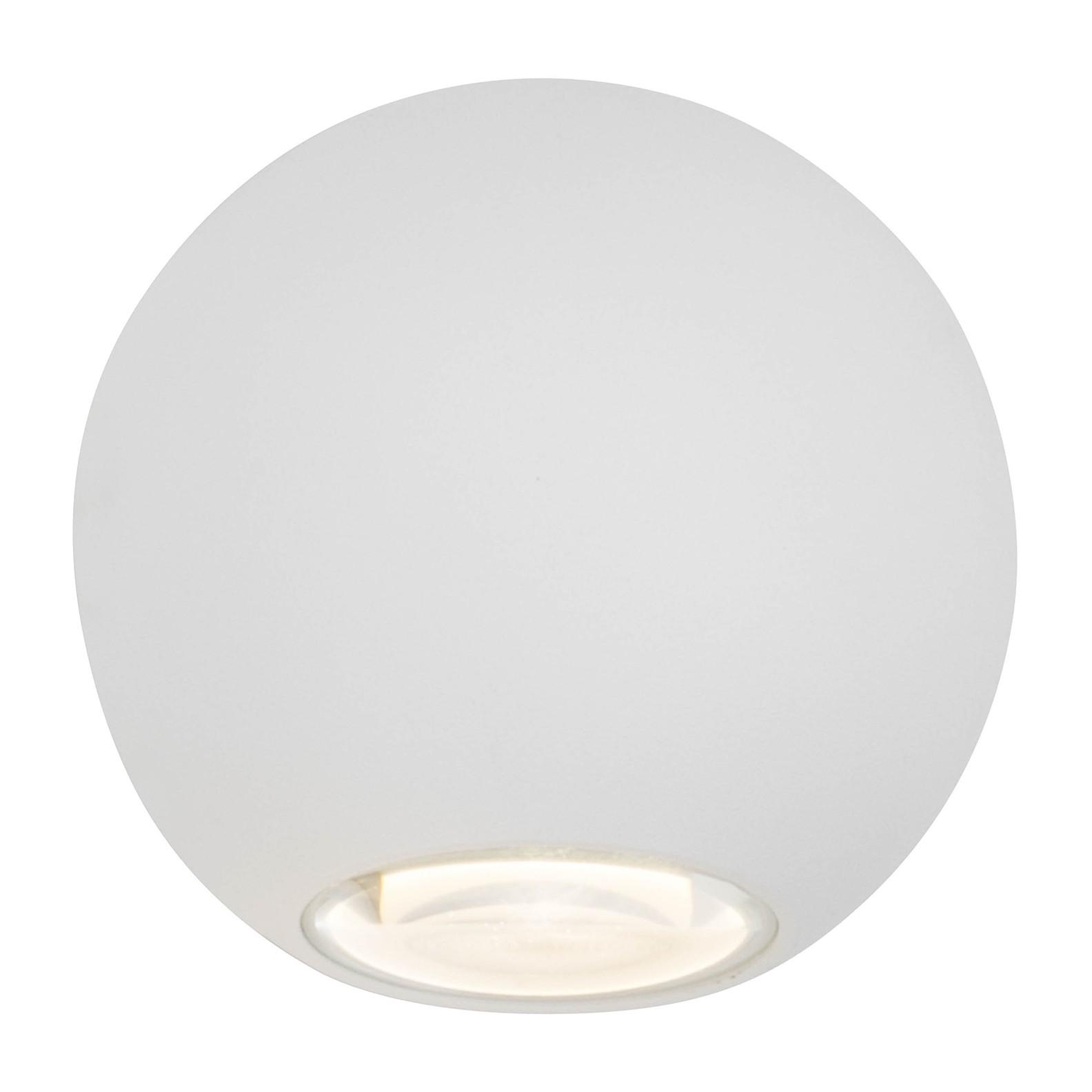 home24 LED-Aussen-Wandleuchte Gus | Lampen > Aussenlampen > Wandleuchten | Weiss | AEG
