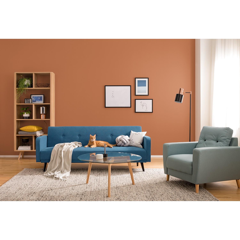 home24 Mørteens Sessel Sola Mintgrau Webstoff 79x90x90 cm (BxHxT)