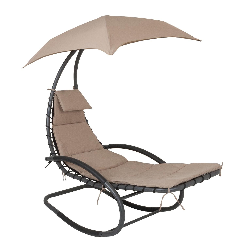 home24 Schaukelliege Keros | Garten | Beige | Metall - Textil | Garden Pleasure