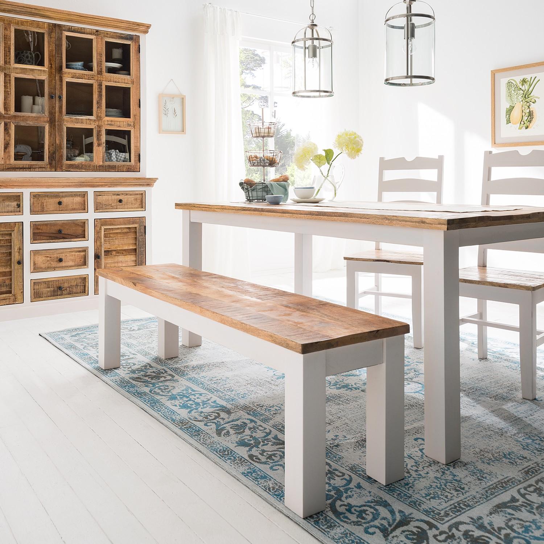 home24 Sitzbank Newhaven   Küche und Esszimmer > Sitzbänke > Einfache Sitzbänke   Weiss   Massivholz   Maison Belfort