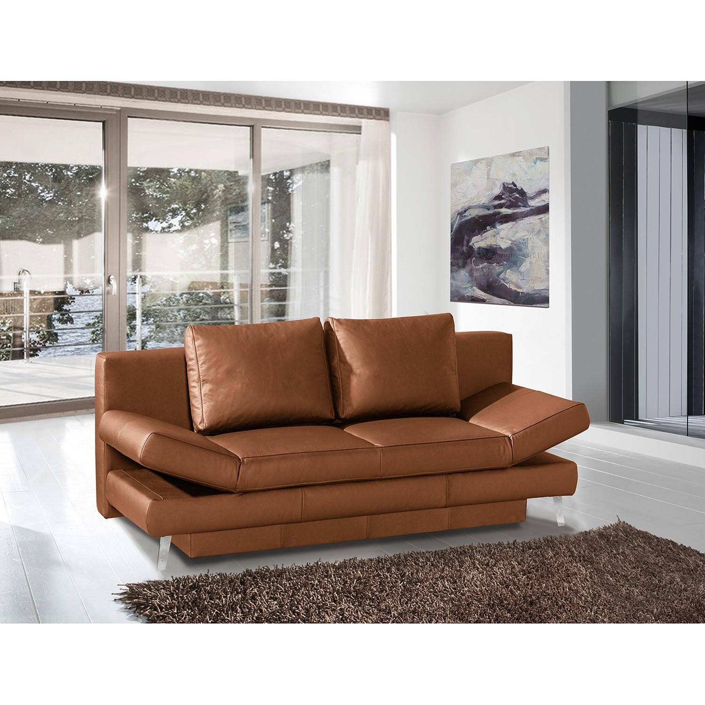 home24 loftscape Schlafsofa Salen II Cognac Echtleder 200x85x90 cm mit Schlaffunktion