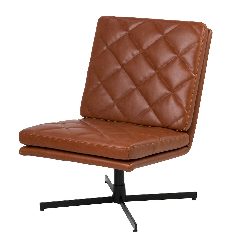 home24 Loungesessel Copen   Wohnzimmer > Sessel > Loungesessel   Braun   Kunstleder   ars manufacti