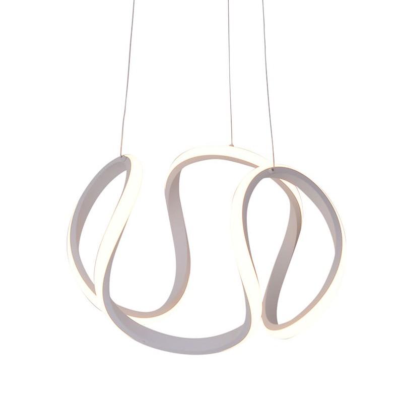 home24 LED-Pendelleuchte Simply White