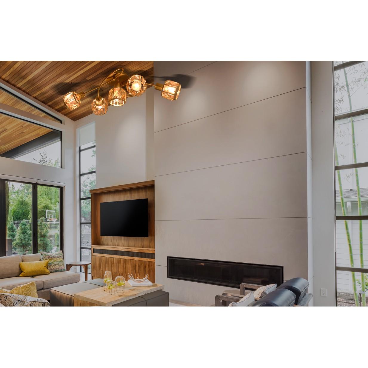 home24 LED-Deckenleuchte Filament
