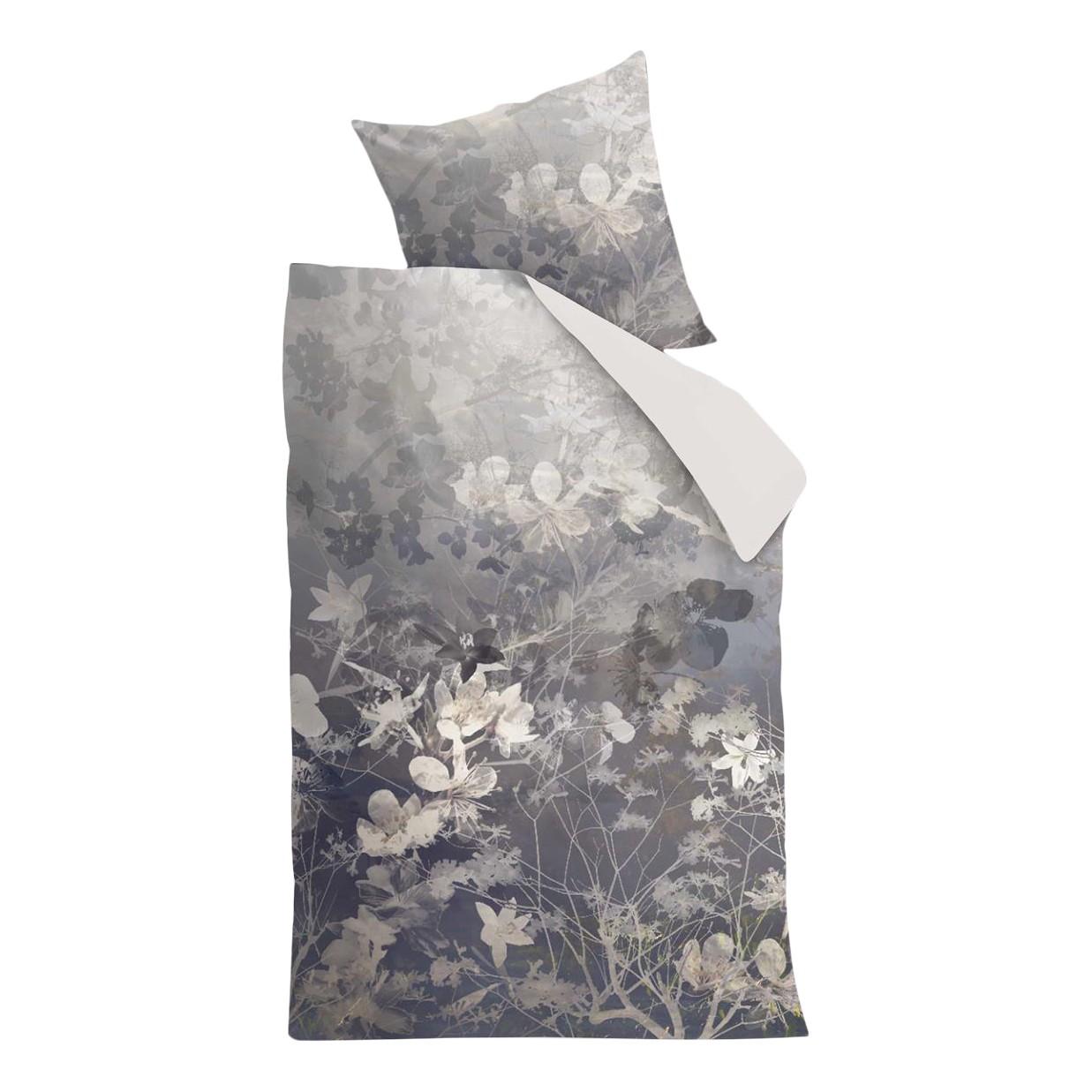 home24 Mako-Satin-Bettwaesche Misty Floral