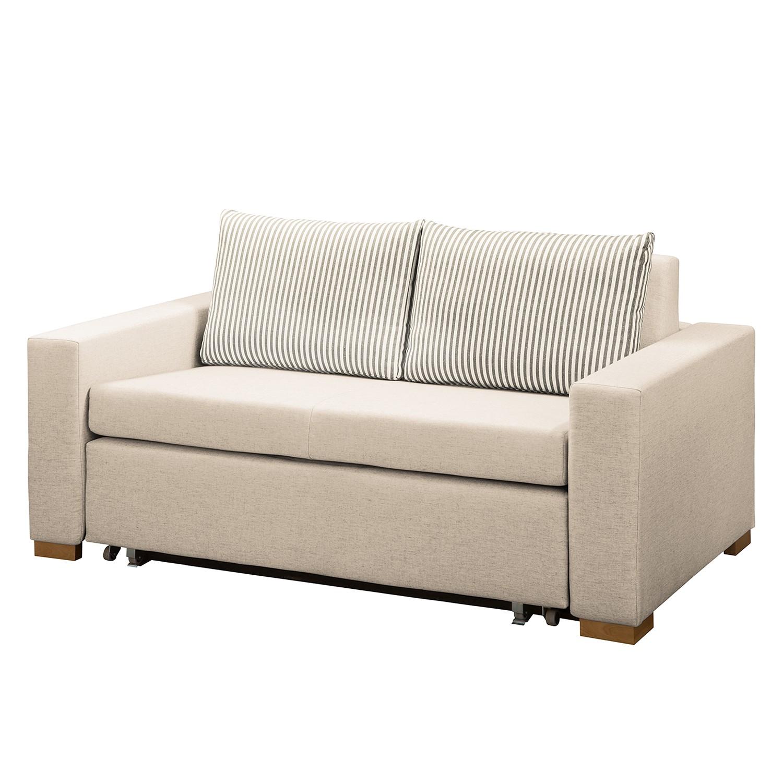 home24 Maison Belfort Schlafsofa Latina XV Kaschmir Webstoff 150x90x90 cm mit Schlaffunktion und Bettkasten