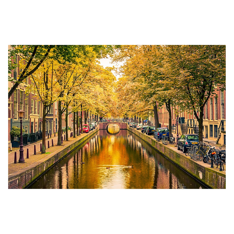 home24 Bild Autumn In Amsterdam | Dekoration > Bilder und Rahmen | Siehe shop | Textil - Massivholz | WandbilderXXL