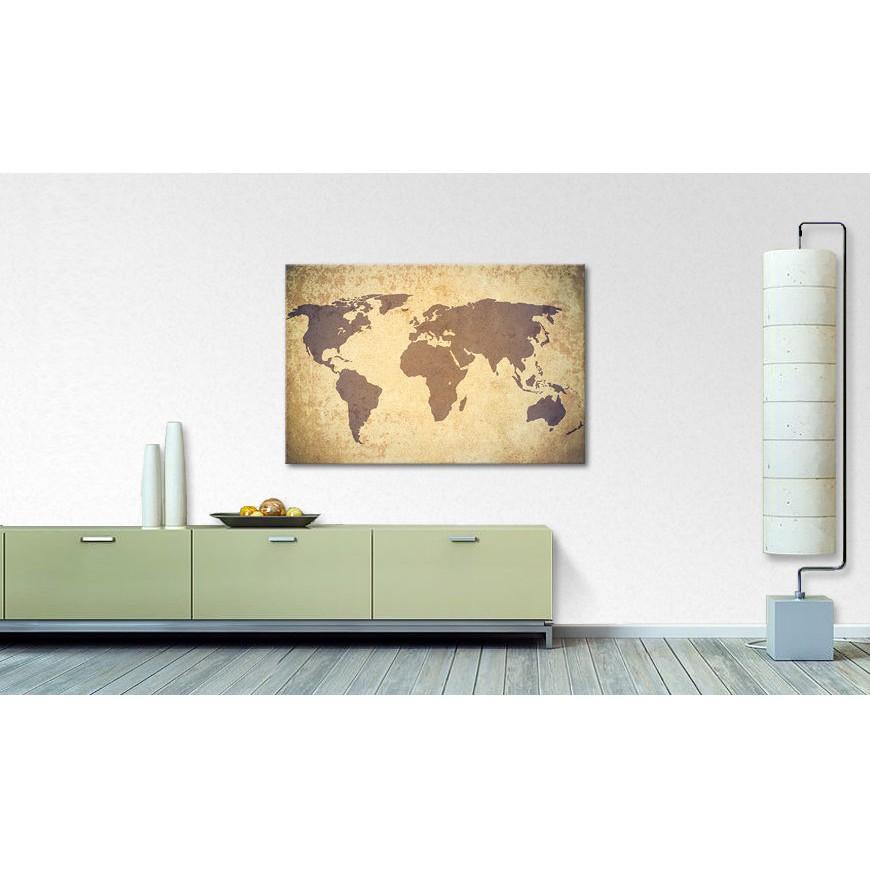 home24 Bild Worldmap Vintage | Dekoration > Bilder und Rahmen > Bilder | Braun | WandbilderXXL