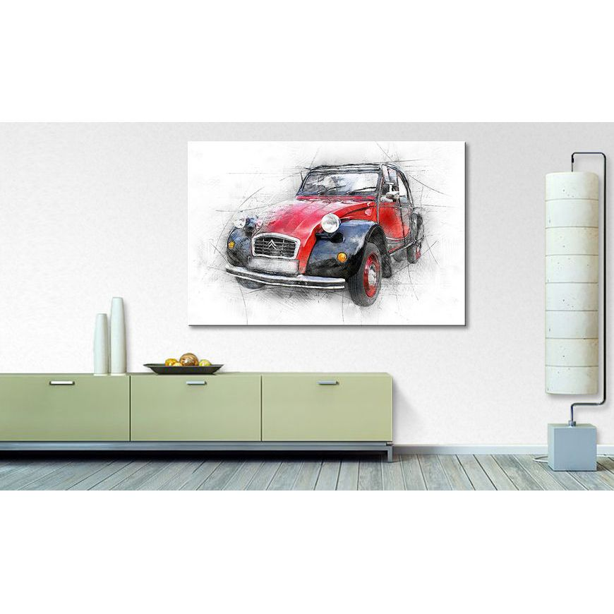 home24 Bild The Ente   Dekoration > Bilder und Rahmen > Bilder   Rot   WandbilderXXL