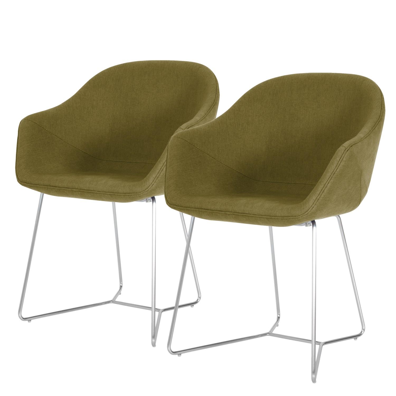 Armlehnenstuhl reSTOL II (2er-Set) | Küche und Esszimmer > Stühle und Hocker > Armlehnstühle | Gruen | Textil | Studio Copenhagen