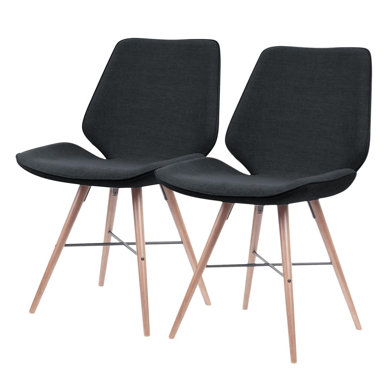 home24 Polsterstuhl toSTOL I (2er-Set)   Küche und Esszimmer > Stühle und Hocker > Polsterstühle   Grau   Textil   Studio Copenhagen