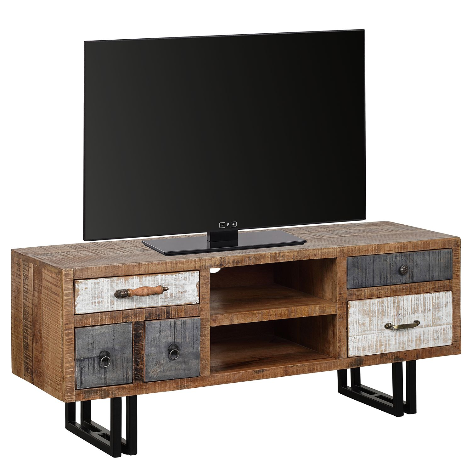 tv board retro 52x81x40 cm blau macht euren. Black Bedroom Furniture Sets. Home Design Ideas