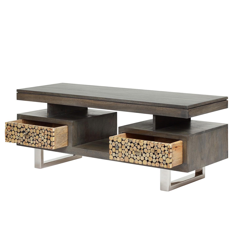 TV-Lowboard TEXAS II - Mango / Eukalyptus Massivholz