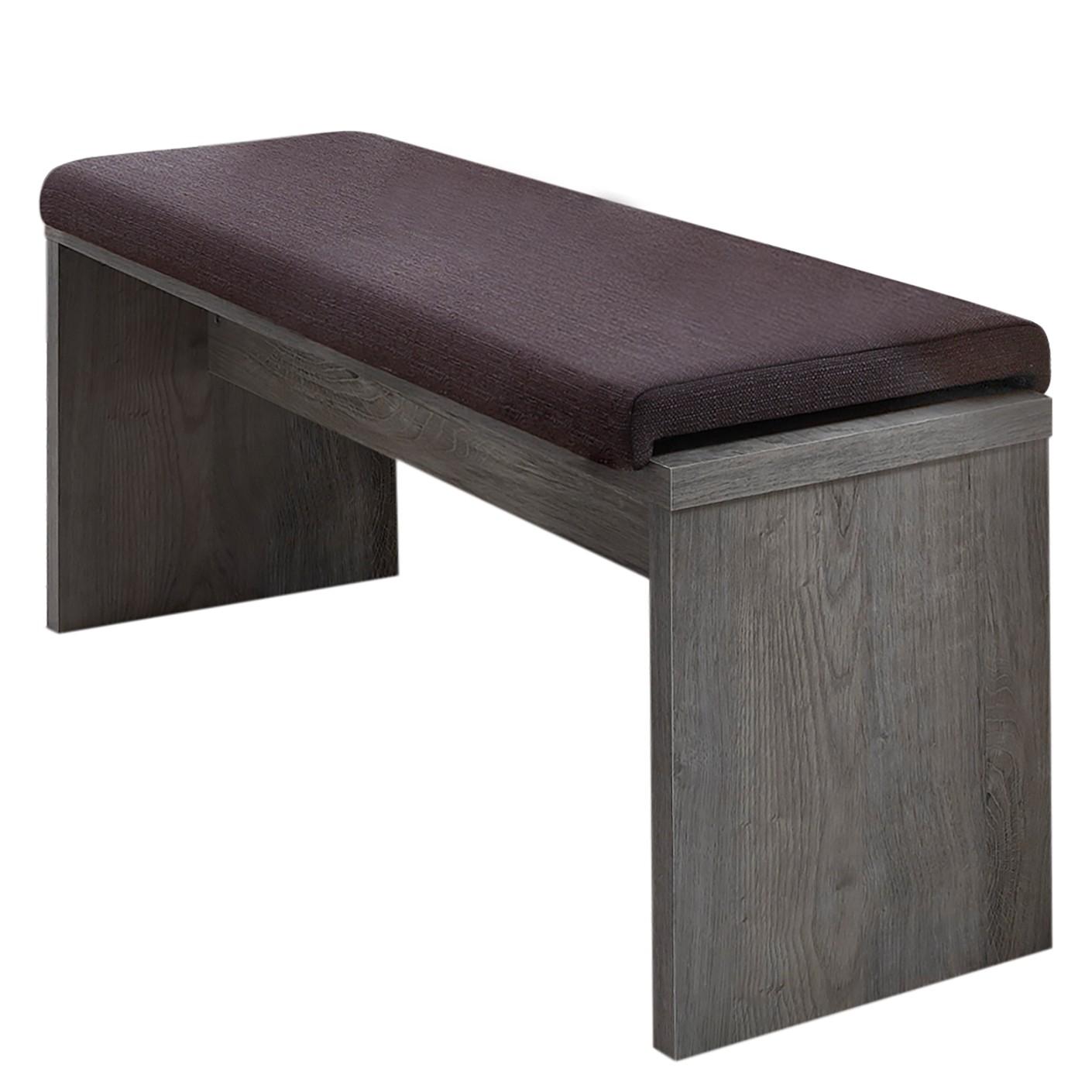 home24 Sitzbank Lehto (Inkl. Klemmkissen) | Küche und Esszimmer > Sitzbänke | Grau | Holzwerkstoff - Textil | loftscape