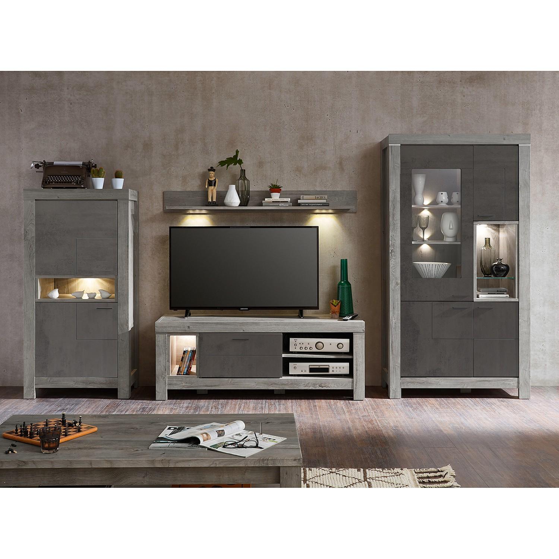 home24 Wohnwand Lehto I (3-teilig) | Wohnzimmer > Schränke > Wohnwände | Siehe shop | loftscape