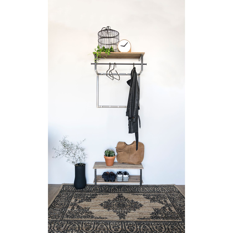 home24 Wandgarderobe Norton ll | Flur & Diele > Garderoben > Garderobenhaken | Schwarz | Red Living