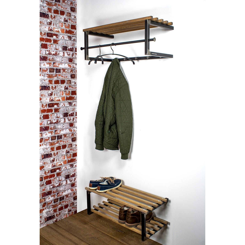 home24 Schuhregal Norton   Flur & Diele > Schuhschränke und Kommoden > Schuhregal   Schwarz   Red Living