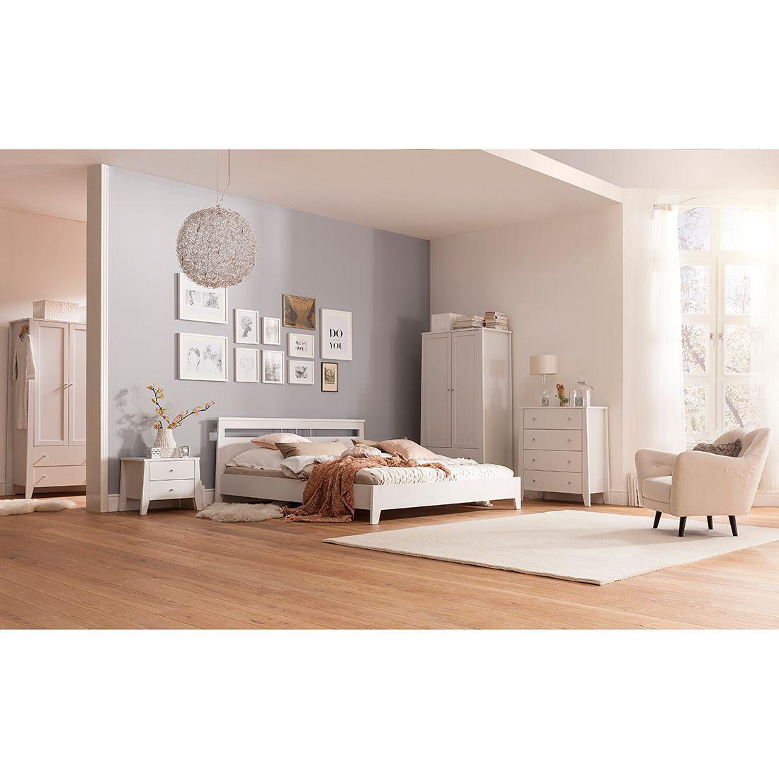Schlafzimmermöbel - Nachtkommode Mallund - Maison Belfort - Weiss
