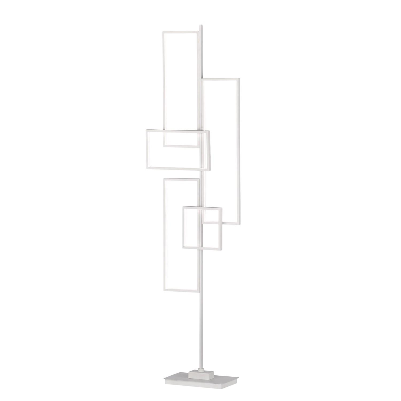 home24 Trio LED-Stehleuchte Tucson Eisen Weiß 45x161x18 cm (BxHxT) Dimmbar 1-flammig 44W inkl. Leuchtmittel