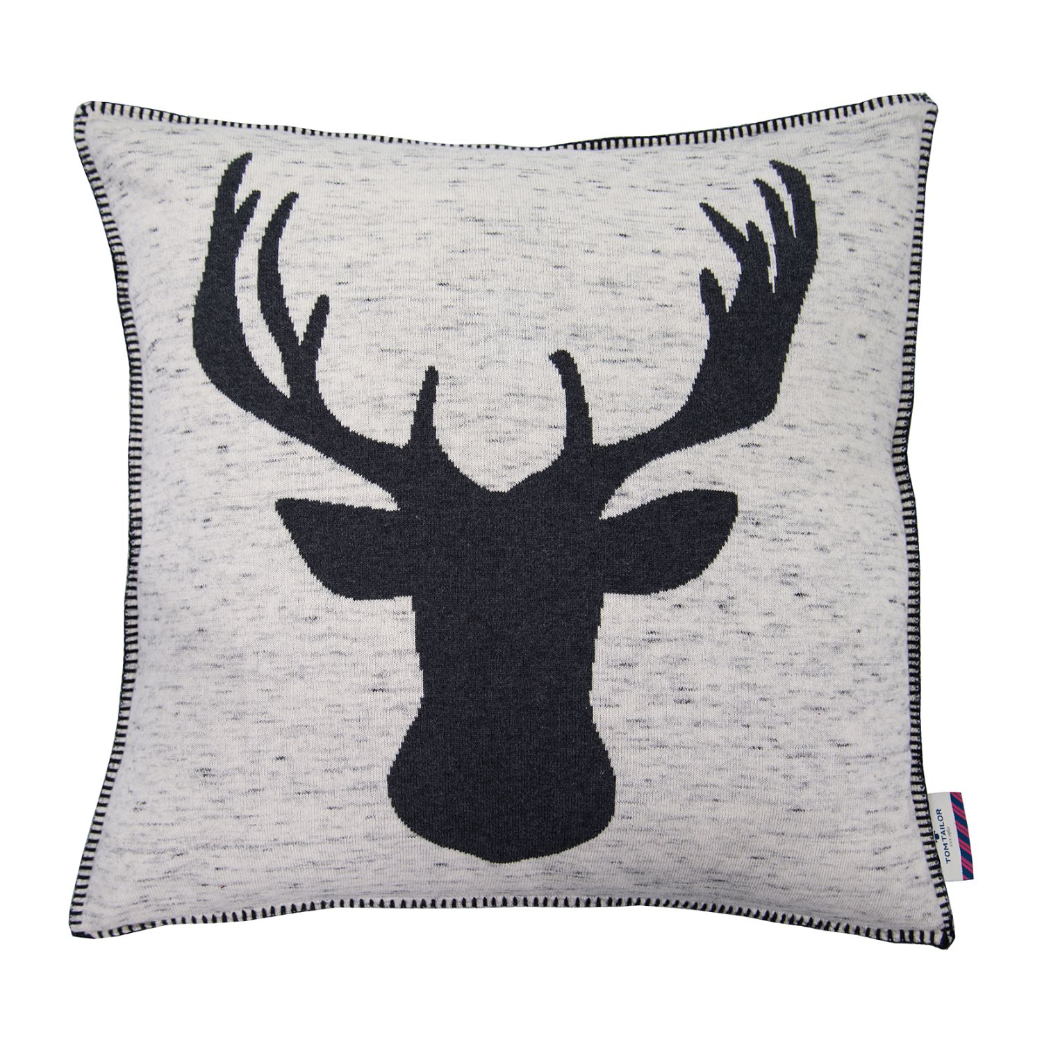 home24 Kissenbezug T-Black Deer