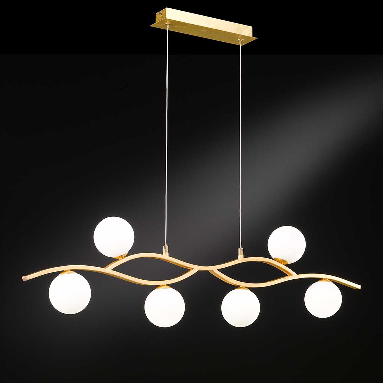 home24 LED-Pendelleuchte Dina