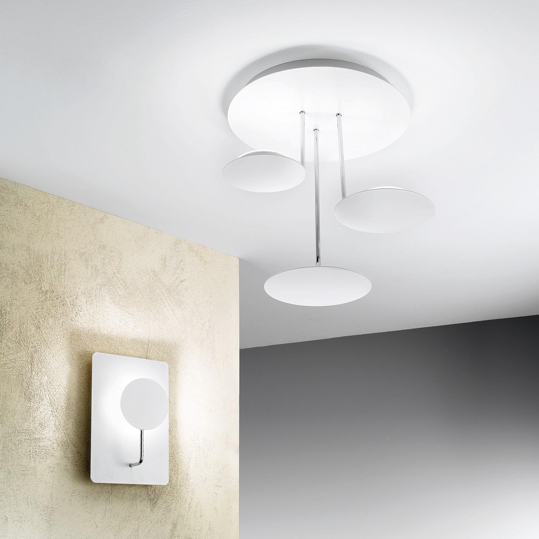 home24 LED-Deckenleuchte Fullmoon