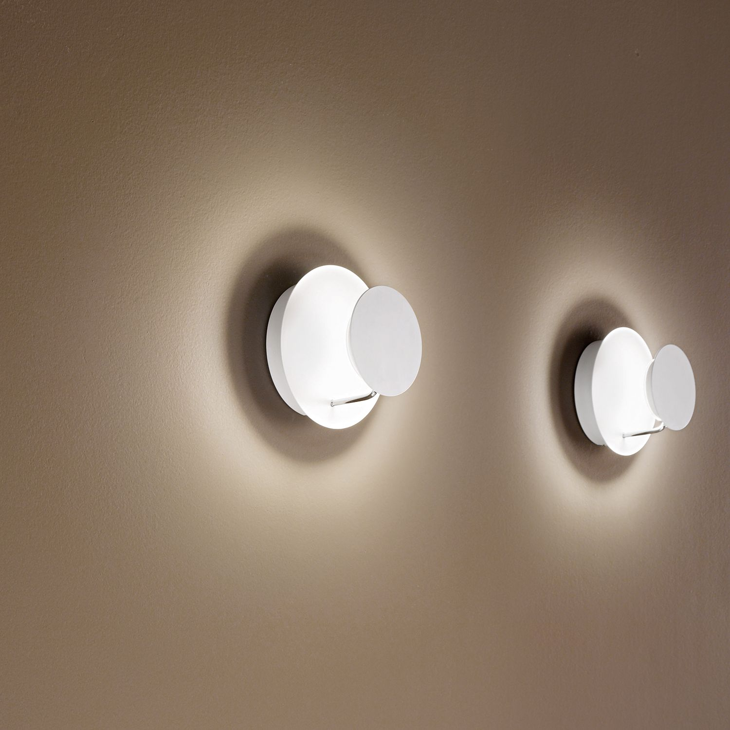 home24 LED-Wandleuchte Fullmoon