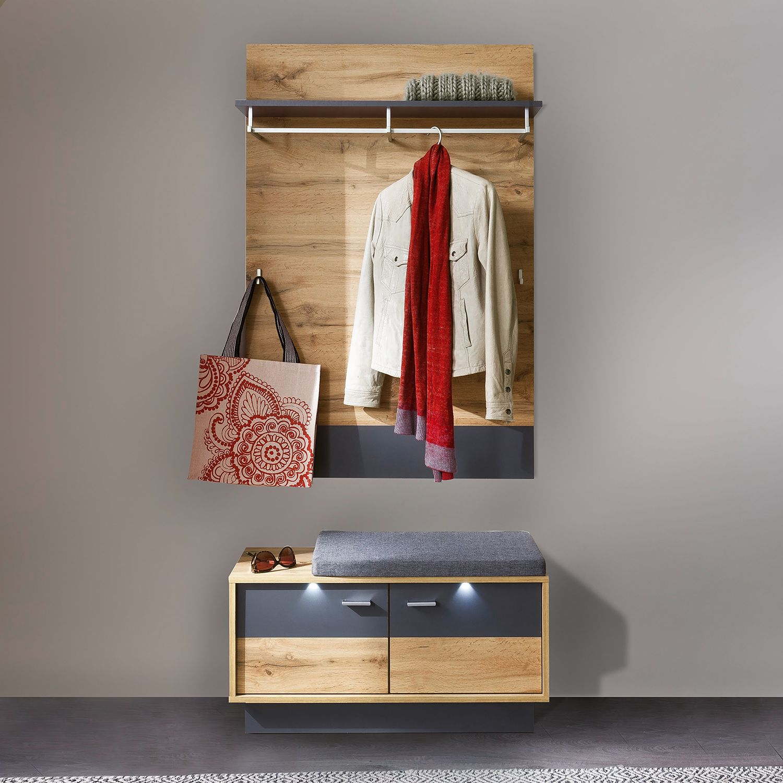 home24 Garderobenset Coast V (2-teilig) | Flur & Diele | Braun | Trendteam