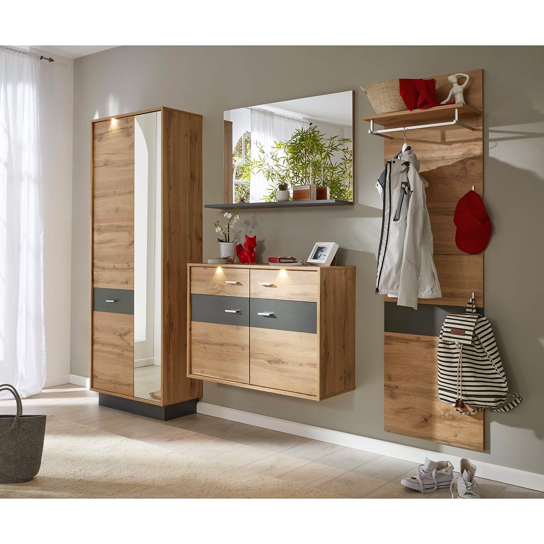 home24 Garderobenset Coast IX (3-teilig) | Flur & Diele > Garderoben > Garderoben-Sets | Braun | Trendteam