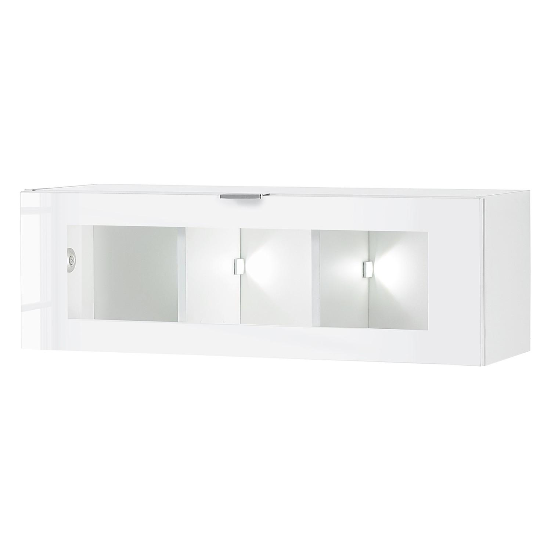 home24 Haengevitrine Gila II | Wohnzimmer > Vitrinen | Weiss | Holzwerkstoff | loftscape