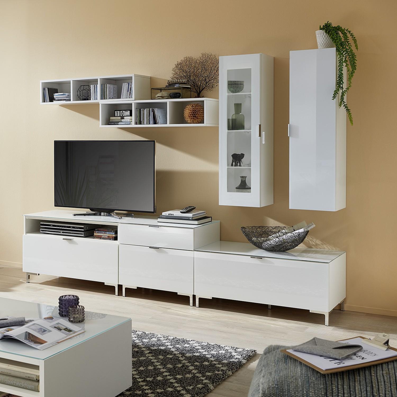 home24 Wohnwand Gila V (7-teilig) | Wohnzimmer > Schränke > Wohnwände | Weiss | Holzwerkstoff | loftscape