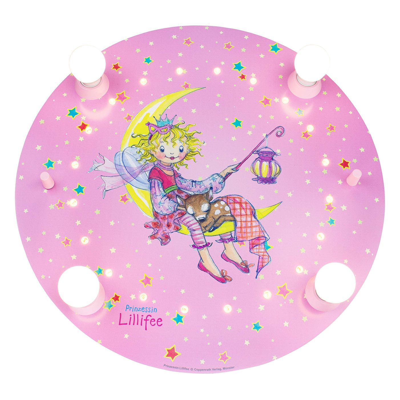 home24 LED-Deckenleuchte Prinzessin LillifeeIII | Lampen > Deckenleuchten > Deckenlampen | Pink | Massivholz | Elobra