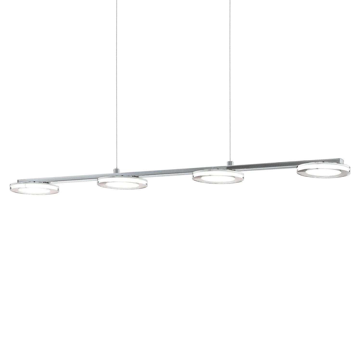 home24 LED-Pendelleuchte Cartama IV