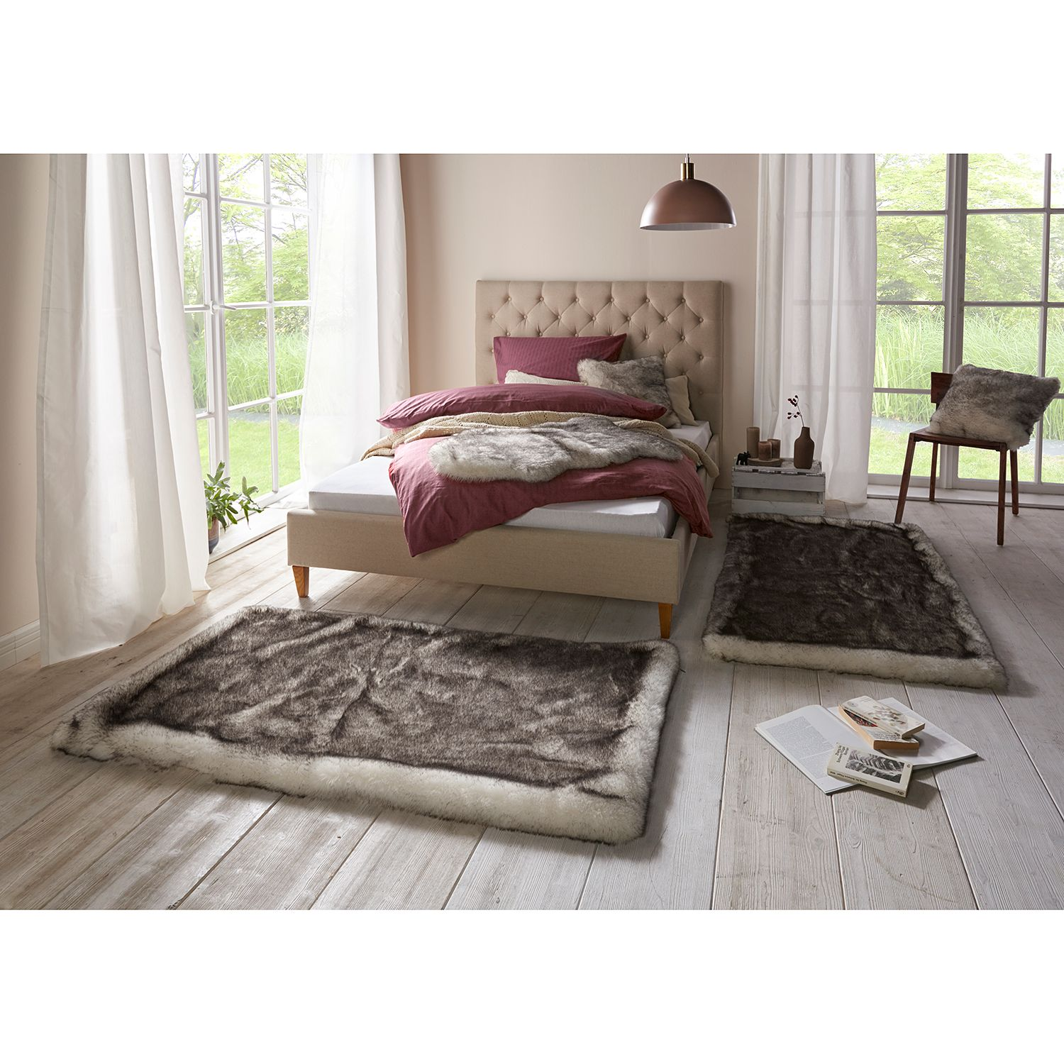Bettumrandung Dipdye (2er-Set), Mint Rugs