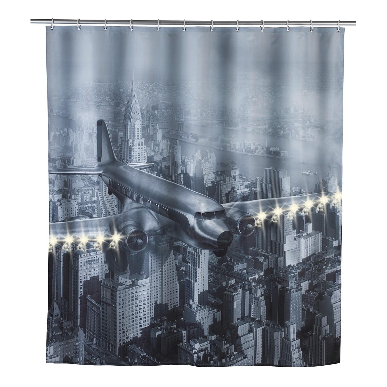 home24 LED-Duschvorhang Old Plane | Bad > Duschen | Siehe shop | WENKO
