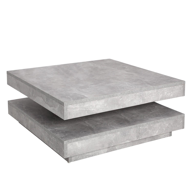 home24 loftscape Couchtisch Cutato Spanplatte Beton Modern 78x34x78 cm (BxHxT)
