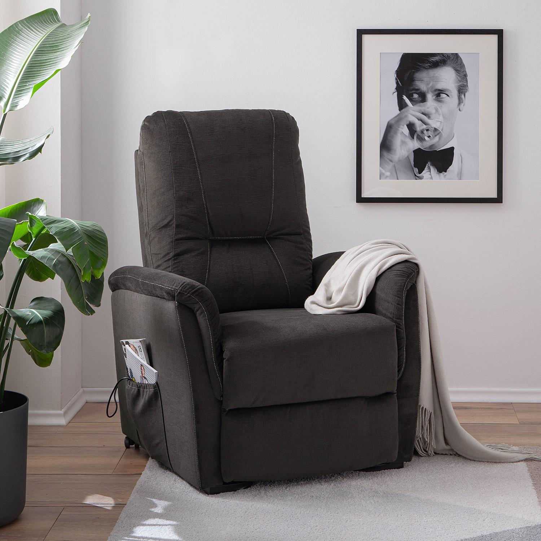 home24 loftscape Fernsehsessel Teneriffe Bisonbraun Microfaser mit Relaxfunktion 85x106x95 cm (BxHxT)