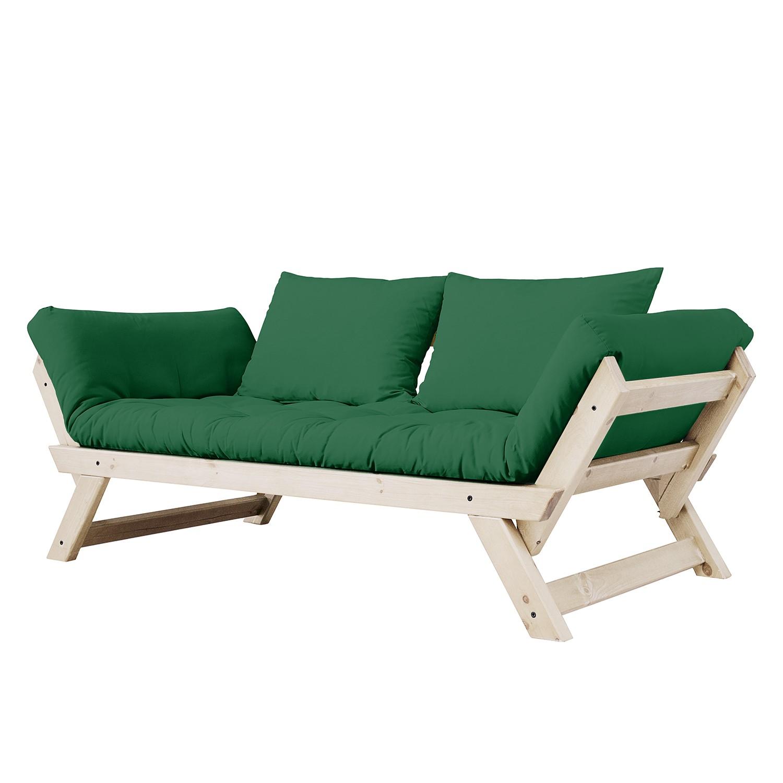 home24 Schlafsofa Lothra | Wohnzimmer > Sofas & Couches > Schlafsofas | Gruen | Textil - Massivholz | Ars Natura