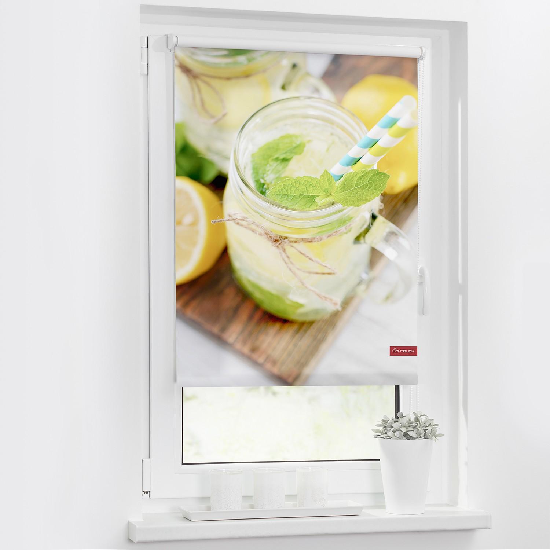 Lichtblick Rollo Limo 90x150 cm (BxH) Gelb/Grün Webstoff, Lichtblick